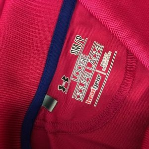 Under Armour Shirts - Under Armour Small Loose HeatGear Pink Polo Shirt